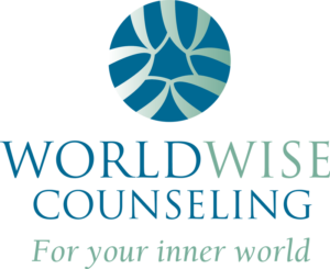 WorldWise Counseling logo designed by Netta Radice Design, Inc.