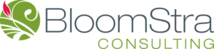 BloomStra Consulting logo designed by Netta Radice Design, Inc.