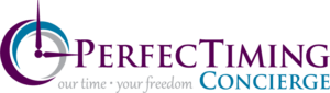PerfecTiming Concierge logo designed by Netta Radice Design, Inc.