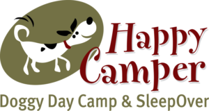 Happy Camper Doggie Day Camp & Sleep Over logo designed by Netta Radice Design, Inc.