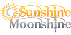 Sunshine Moonshine logo designed by Netta Radice Design, Inc.