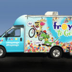 Froyo to Go logo and truck graphics designed by Netta Radice Design, Inc.