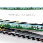 Minnesota Dragon Boat Club Boat Wrap by Netta Radice Design, Inc.