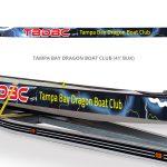 Tampa Bay Dragon Boat Club boat wrap by Netta Radice Design, Inc.