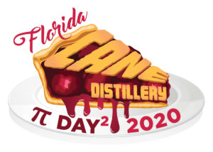 Florida CANE Distillery Pi Day 2020 logo by Netta Radice Design, Inc.
